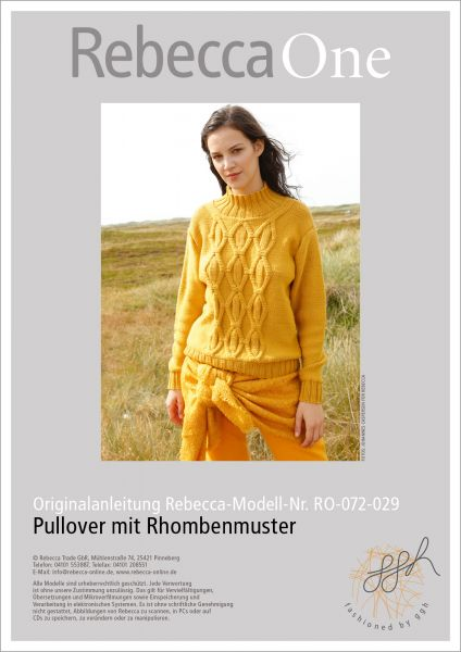 Strickanleitung - Pullover mit Rhombenmuster