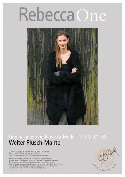 Strickanleitung - Weiter Plüsch-Mantel