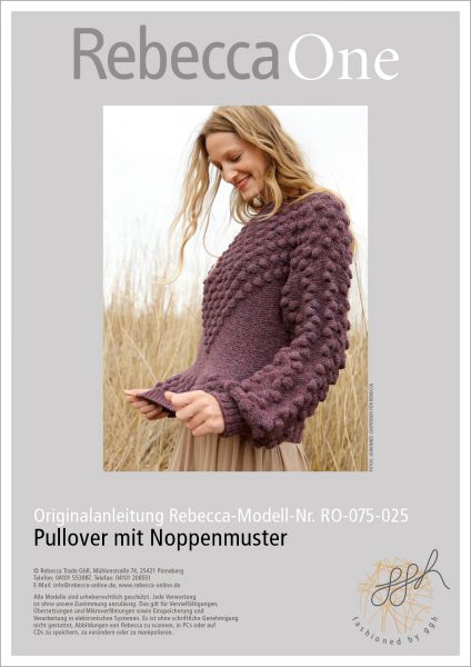 Strickanleitung - Pullover mit Noppen