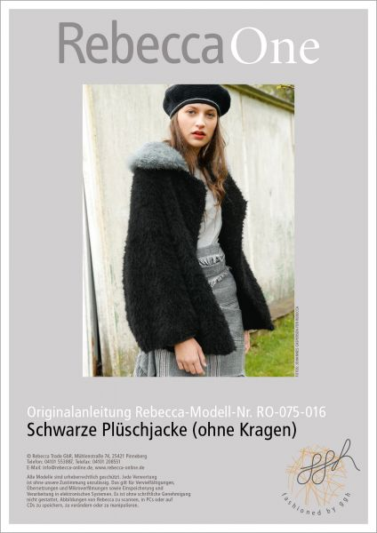 Strickanleitung - Schwarze Plüschjacke