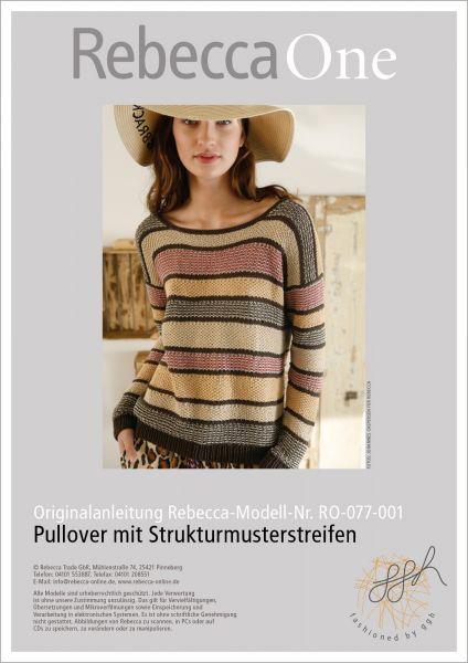 Anleitung - Pullover mit Strukturmusterstreifen