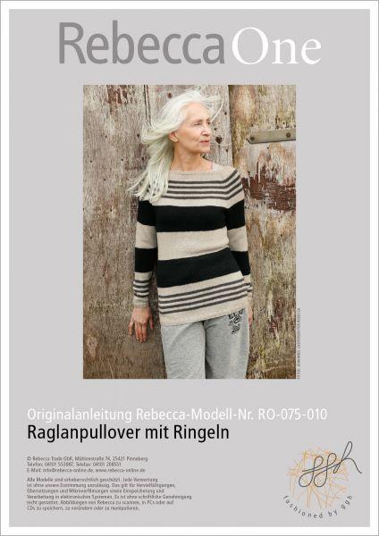 Strickanleitung - Raglanpullover mit Ringeln