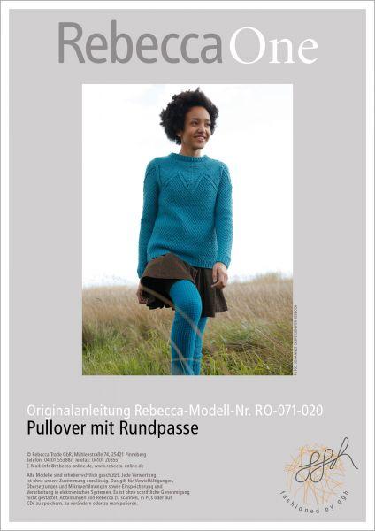 Strickanleitung - Pullover mit Rundpasse