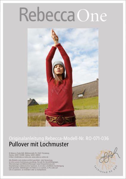 Strickanleitung - Lochmusterpulli Sarah