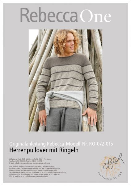 Strickanleitung - Herrenpullover mit Ringeln