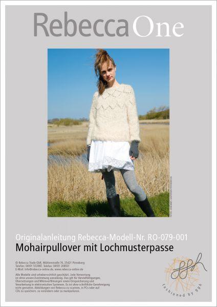 Anleitung - Mohairpullover mit Lochmuster